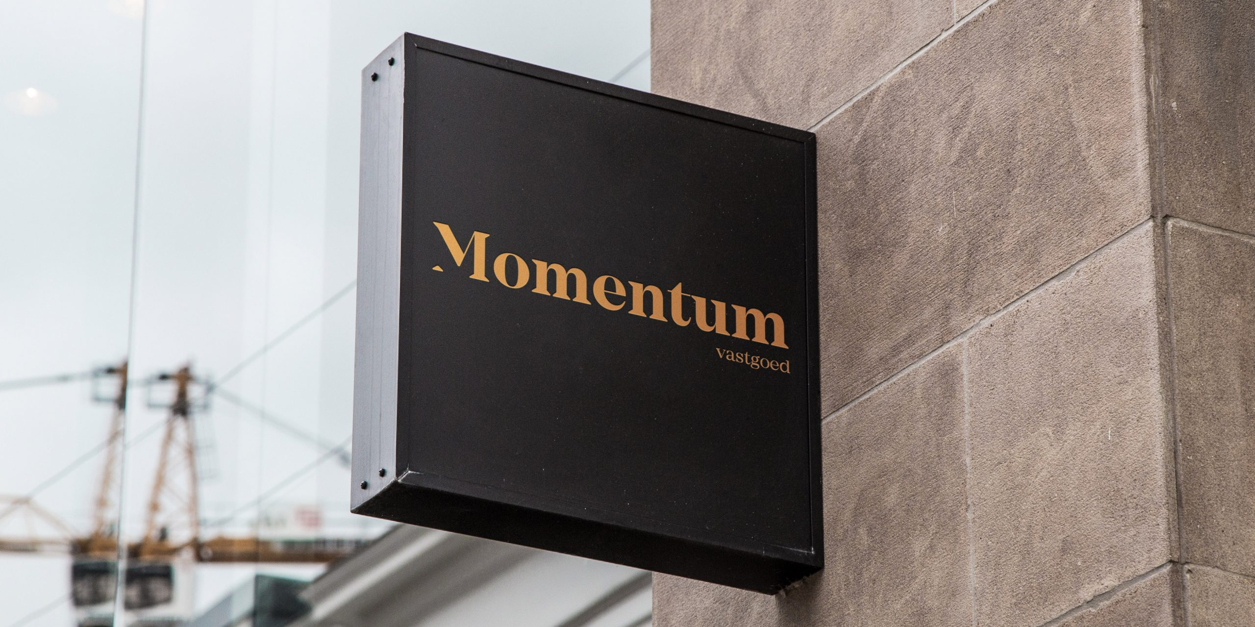 momentum logo signage